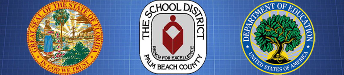Florida, School District, and DOE Seals